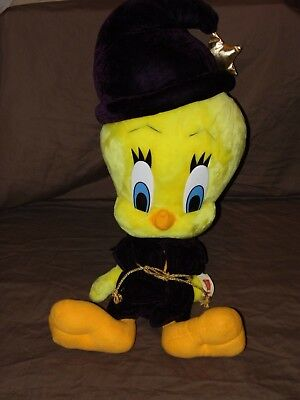 "Looney Tunes Tweety Bird Wizard Warner Bros 24"" Tall Large Plush"