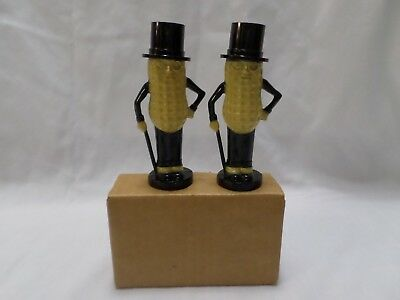 Vintage Planters Mr. Peanut Salt and Pepper Shakers  Black & Yellow  New In Box