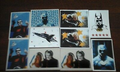 Vintage Batman 1989 Movie Official Collecting Stickers By Merlin