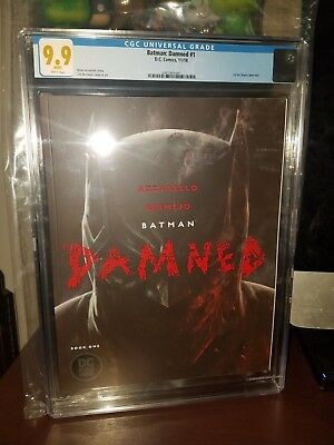 Batman Damned #1 (2018 DC Comics) 1st DC Black Label Lee Bermejo Cover CGC 9.9!