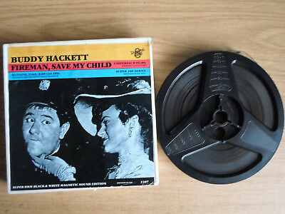 Super 8mm sound 1X200 FIREMAN SAVE MY CHILD. Buddy Hackett comedy.