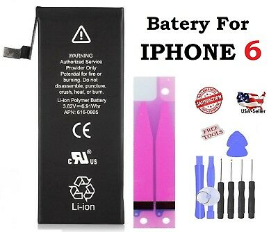 Battery fits For iPhone 6  internal replacement  + Free Tools 1810mAh