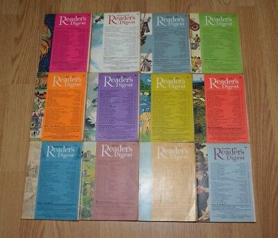 Vintage UK Readers Digest Magazines x12. January to December 1967