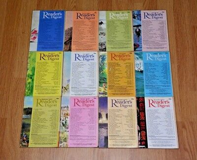 Vintage UK Readers Digest Magazines x12. January to December 1971