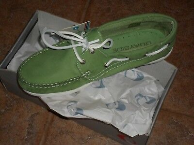 Quayside Milo Leather Deck Shoes Size Uk 6  Rrp £99.99