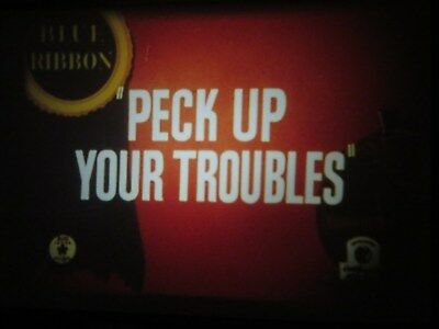 """16mm sound Warner Brothers """" Peck up your Troubles """" like new great color"""