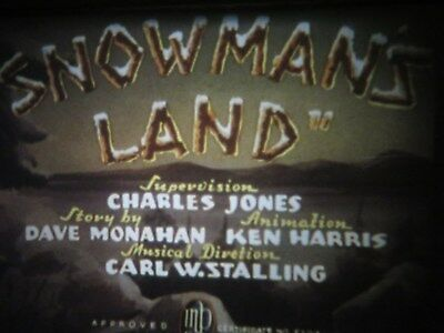 """16mm sound Warner Brothers """" Snowman's Land """" like new great color"""