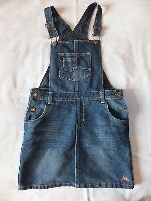 Girls denim dungaree dress age 11 Mantaray
