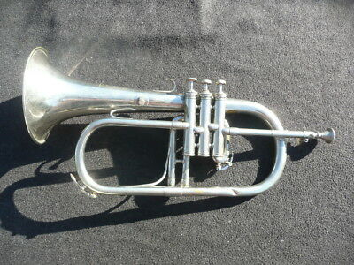RARE FRENCH Bb FLUGELHORN by COUESNON MONOPOLE PARIS - MADE IN 1923
