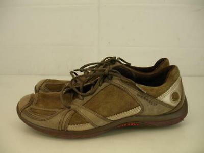 Womens 8 M Merrell Aria moss brown comfort shoes sneakers lace-up suede leather