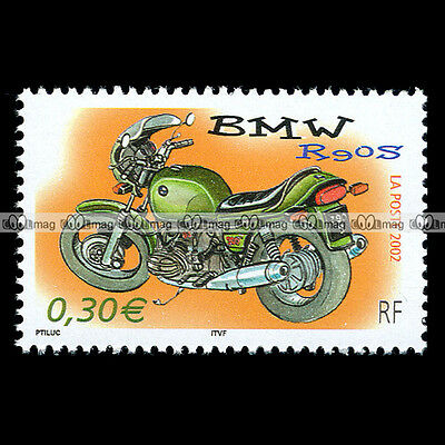 ★ BMW R90S (R 90 S R90/S R90) ★ FRANCE Timbre Poste Moto Motorcycle Stamp #121