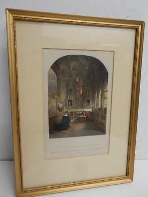 really old picture print small religious LADY CHAPEL WARWICK