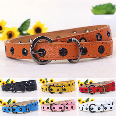 Toddler Waistband Kids Candy Color Buckle PU Leather Accessories Colorful New