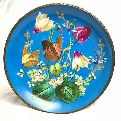 Antique Vintage Old Hand Painted Bowl / Plate