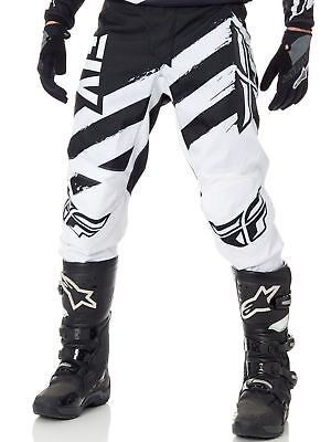 New Fly Racing F-16 Youth White Black Atv Offroad Bmx Mx Riding Pants Size 18