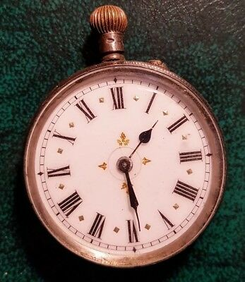 Silver Pocket Watch Late 1800s. Swiss.  Collectable Vintage. Needs servicing.