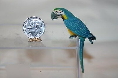 Miniature Dollhouse Colorful Parrot Bird 2 Perch Anywhere 1:12 NR