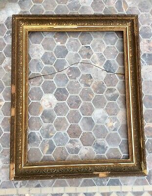 Original 1800s Victorian Plaster Gesso Picture Frame for Painting,Mirror,Large