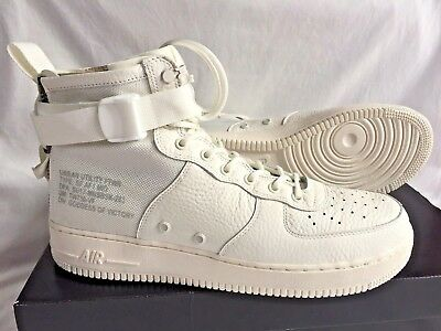 lowest price 7ebbd 34154 NIKE SF AIR Force 1 Mid, Triple Ivory/Reflective Silver (White), UK11, BNIB