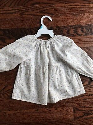 Bonpointe Baby Girl  Floral Pront Blouse Size 18 Mos  Mint Cond