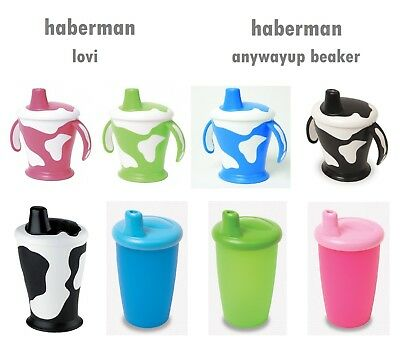 Haberman Cup Sippy Beaker Cow / Classic  No Spill Leak Proof Handles