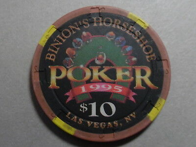 Casino Chip C-123 $10.00 Binion's Horseshoe - Las Vegas - Poker 1995