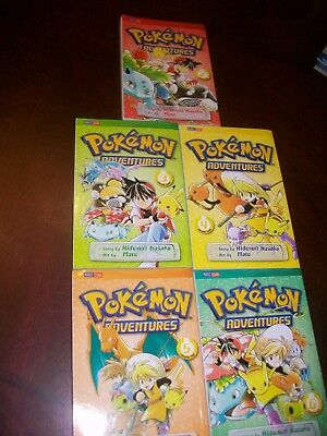 Lot of 5 POKEMON GRAPHIC NOVELS- Volumes 2 - 6 - Paperback Books