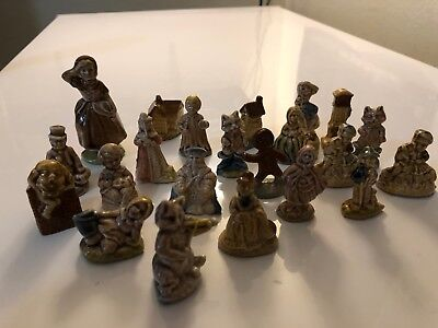 English Ceramic Porcelain People and Fairy Tale Figurines Assorted Lot