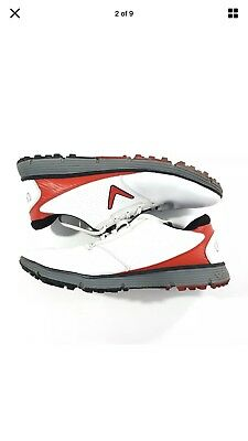 Callaway Balboa SL Men's Spikeless Golf Shoes SZ 12 CG103WRD White/Red/Black NEW