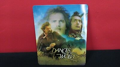 DANCES WITH WOLVES - 3D Lenticular Magnetic Cover / Magnet for Bluray Steelbook