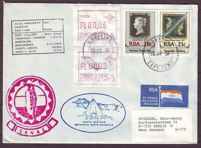 z9303/ South Africa Antartic Polar Shipping Airmail Cover t/Germany 1990