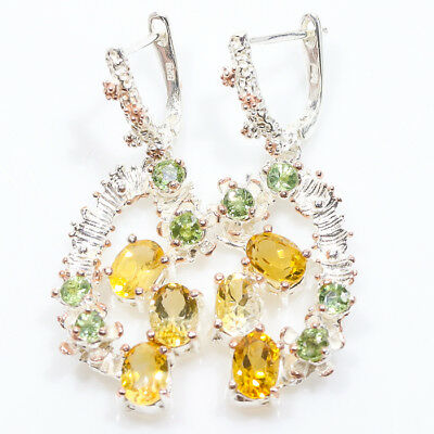 Perfect Design Natural Citrine 925 Sterling Silver Earrings/E01022