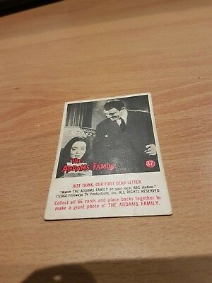 1964 Addams Family Trading Card # 37 Not Scanlens Very Good Con.