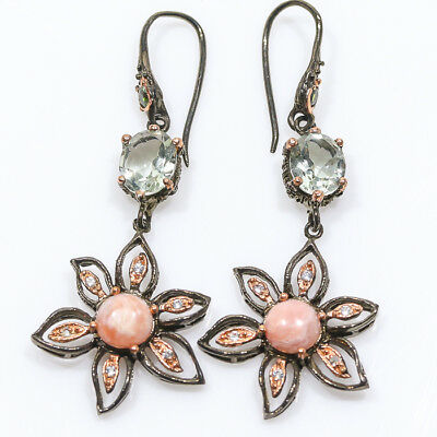 So Pretty item! Natural Pink Opal 925 Sterling Silver Earrings/E01031