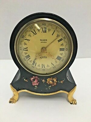 Vintage Clock Musical Alarm Mantel Shelf Paladin Jewels Grimm & Co. Basel