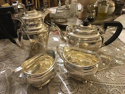 SOLID SILVER ATKIN BROTHERS 4 Piece Tea Coffee Set Sterling Hallmarked 1926