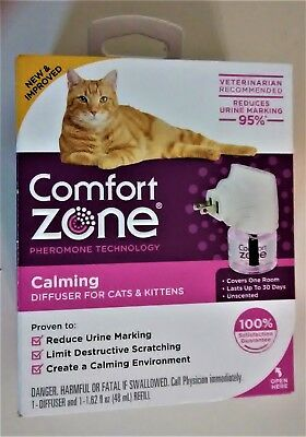 Comfort Zone w/Feliway Plug-In Diffuser with 48 ml refill - UPC: 039079002134