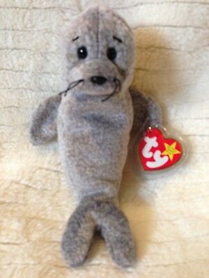 37a6daa525a Ty Beanie Baby Toy Collectible SLIPPERY the Grey Seal Rare Retired MWMTs!