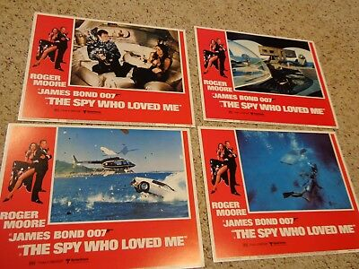 "James Bond 007 Original 1977 US THE SPY WHO LOVED ME 11x14""  U.S. Lobby Set of 8"