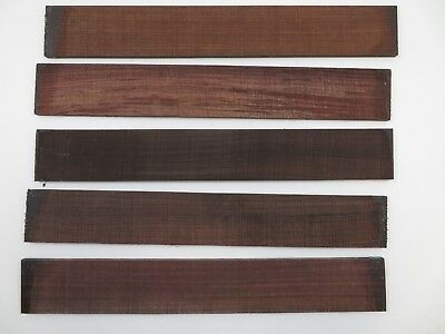 "(5) Lot Of 5, Guitar Luthier Rosewood Fingerboard Blank 21 X 2 15/16 X 3/8   ""a"""
