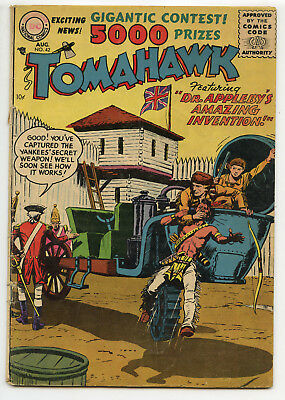 JERRY WEIST ESTATE: TOMAHAWK #42 (DC 1956) VG condition NO RES