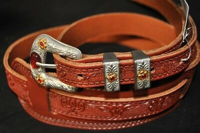RUSSET NEW Gretsch 6332 Vintage Tooled Leather Guitar Strap #922-0021-000