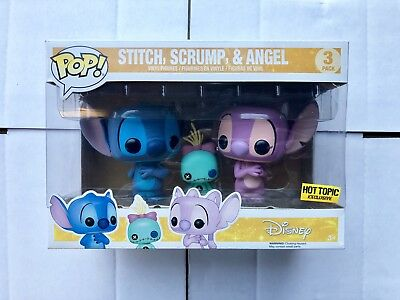 Funko Pop Disney Lilo & Stitch Stitch Scrump & Angel 3 Pack Hot Topic Exclusive