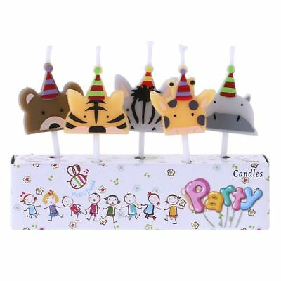 5Pcs/set Children Cute Candle Zoo Party Shape Carnival Animal Birthday Candles