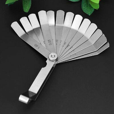 Stainless Steel Measure Tool Metric 0.05 To 1Mm Thick Curved Feeler Gauge New