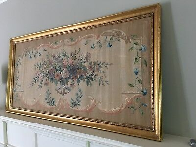 Framed Aubusson Tapestry Bouquet Of Flowers