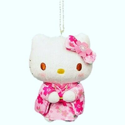 Hello Kitty Sakura Kimono Plush Doll Ball-chain Rare Sanrio Japan Exclusive