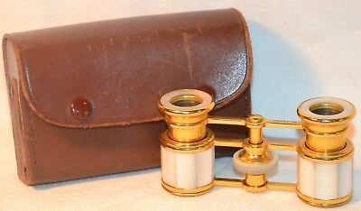 Antique Opera Glasses Made in France with case Compass Marquise