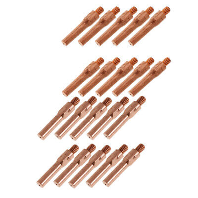 20PCS 45mm Welding Contact Nozzle Tip for Gas Shielded Welder 0.8+1.2mm Weld