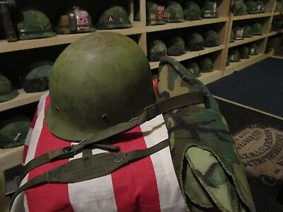 Post Vietnam M1 helmet liner lot chin strap neck strap cover US Army USMC